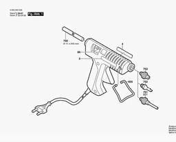 BOSCH Nozzle For Bosch PKP18E Glue Gun Glue Guns