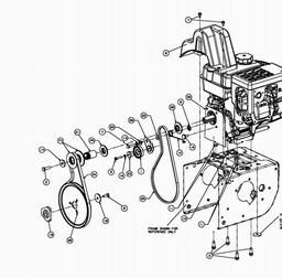 drive system milling drive mtd014397 spares for mtd me 61 snow Troy-Bilt Tillers use two fingers to move image