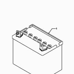Battery - MTD009327 Spares for Bolens BL 135/96 T (Lawn