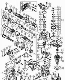 compatible Hitachi DH 45 MR DH 50 SH escobillas de carb/ón GOMES