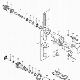 HP2071F Spares for Makita HP2071F (Rotary & Percussion Drills ... on